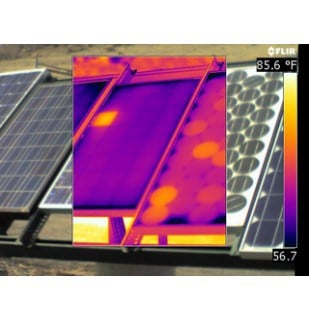 drone used for solar panel inspections