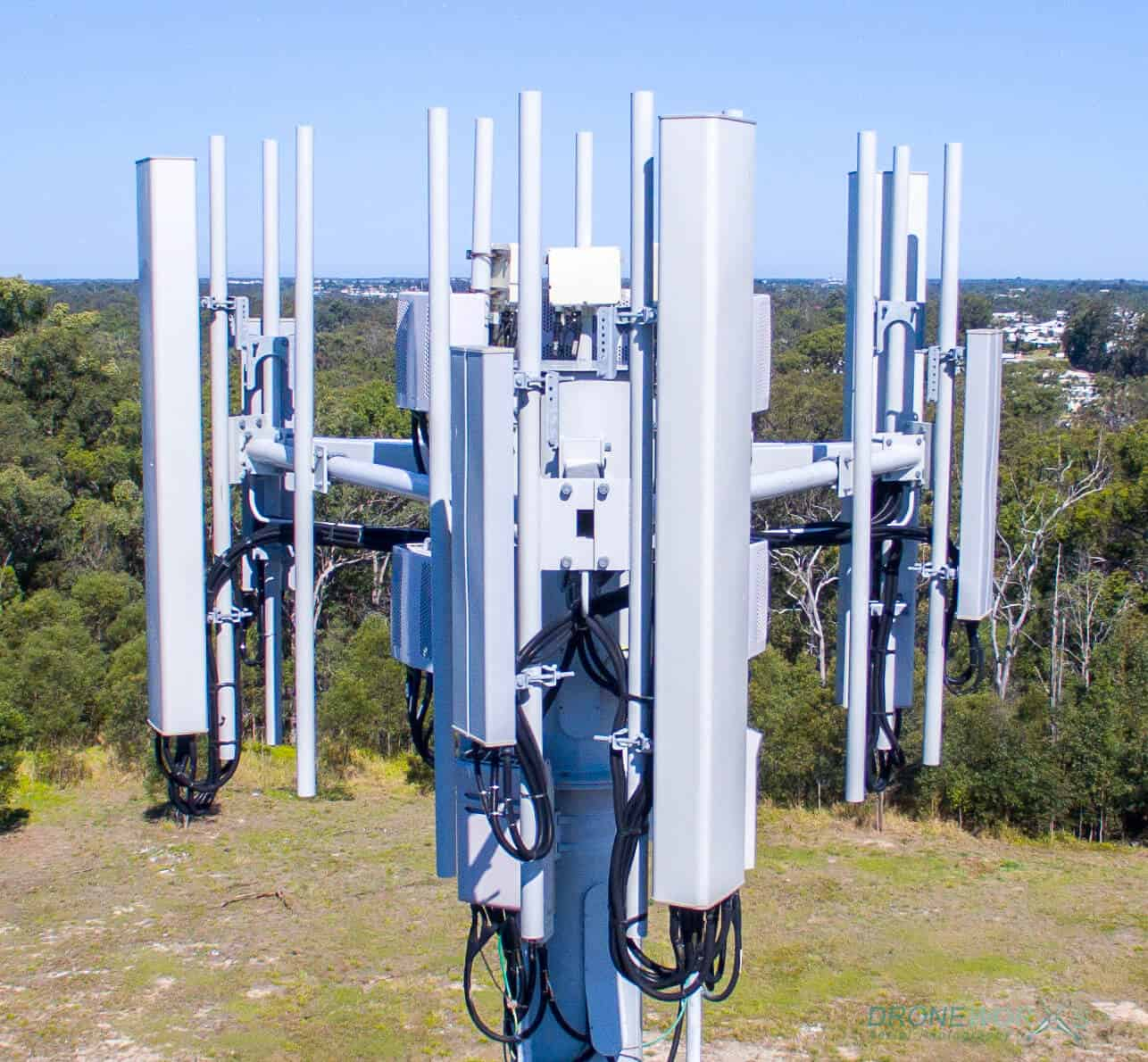 Drone Asset Inspection Mobile Phone Tower